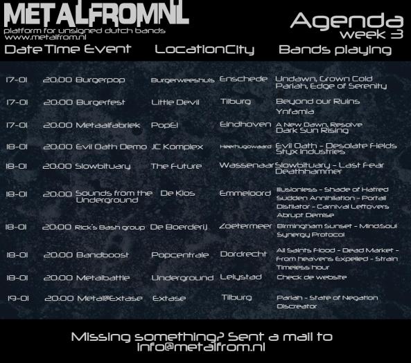 Agenda week 3