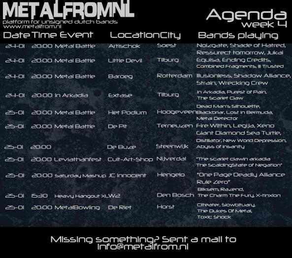 Agenda week 4